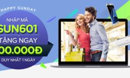Nhận ngay mã giảm giá 100K tại Adayroi vào chủ nhật hàng tuần