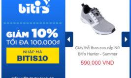 Mã giảm giá Lazada 100k khi mua giày Biti's Hunter