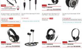 Mã giảm giá tai nghe Sennheiser chính hãng tại Lazada