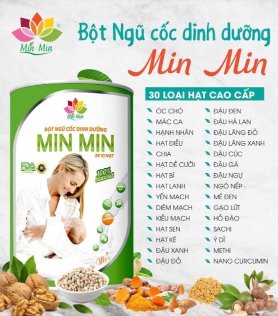 ngũ cốc lợi sữa minmin