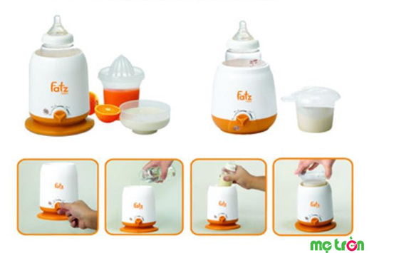cách dùng máy hâm sữa fatzbaby
